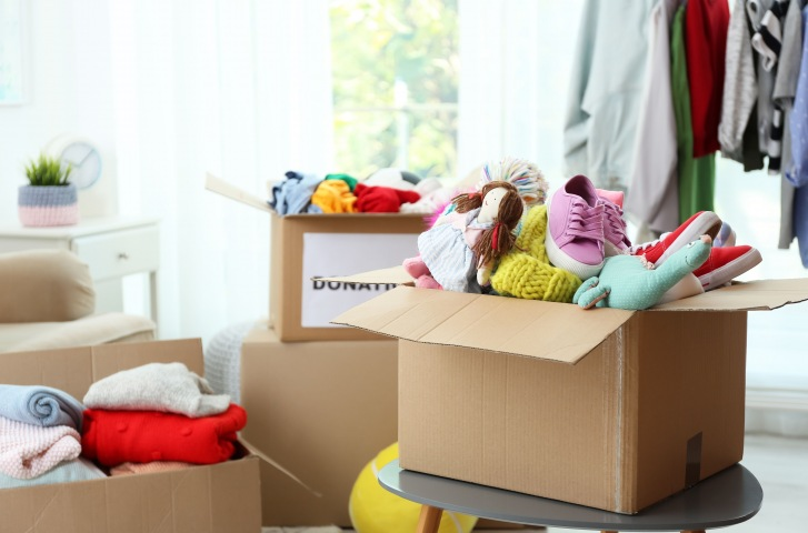 organizing your clothes and shoes for downsize move for seniors